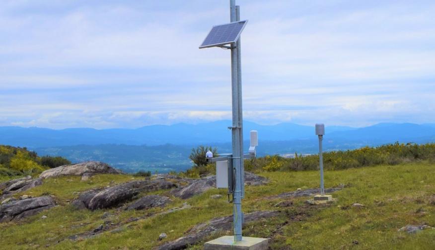 Estação Meteorológica instalada em Longos Vales